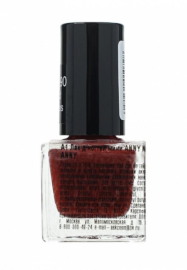 Лак для ногтей Anny мини тон 144.90 темно-красный кармин
