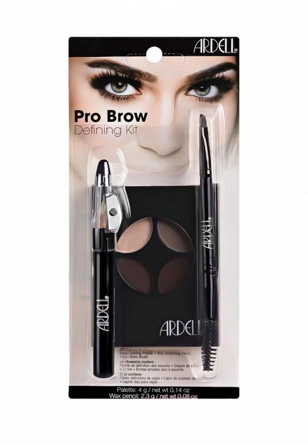Набор Ardell для макияжа бровей и коррекции, с кистью и восковым карандашом