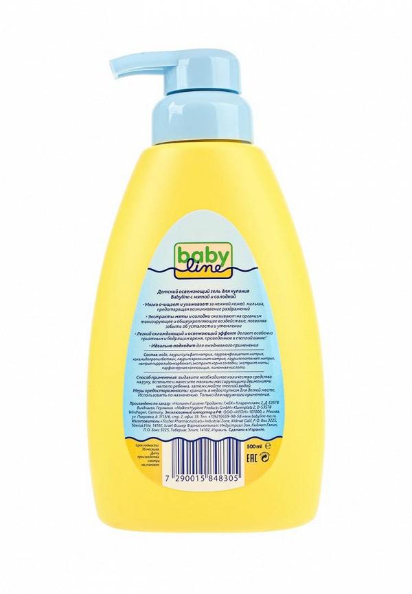 Гель Babyline для купания с мятой и солодкой для детей с первых дней жизни, 500 мл с дозатором