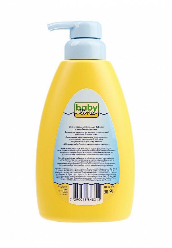 Гель Babyline для купания с целебными травами для детей с первых дней жизни с дозатором, 500 мл