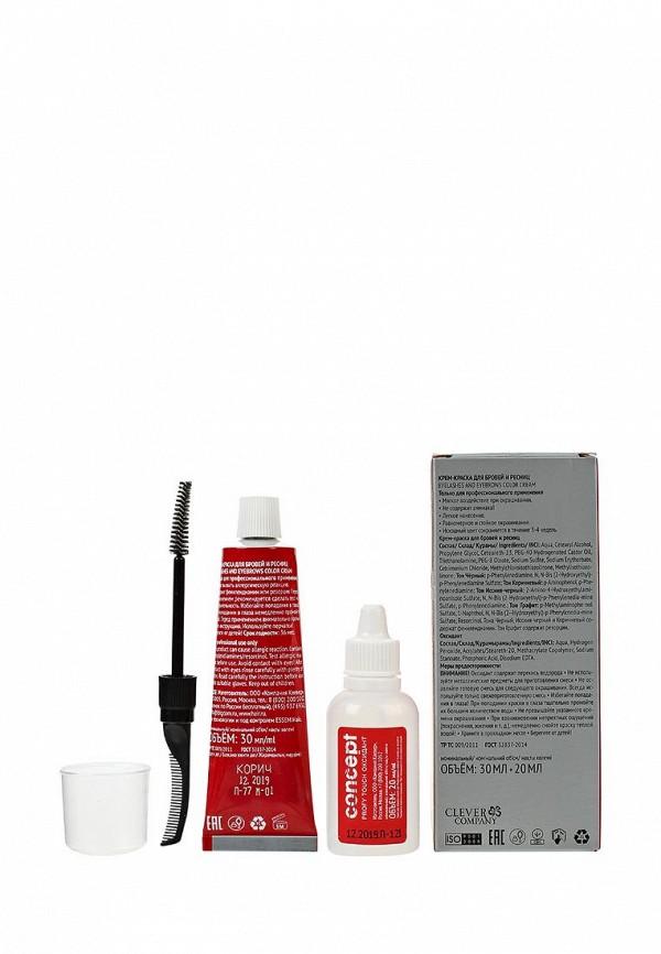 Краска для волос Concept для бровей и ресниц PROFY TOUCH Коричневый, 30/20 мл
