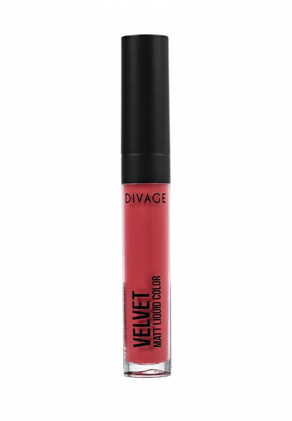 Помада Divage Жидкая Матовая Liquid Matte Lipstick Velvet № 01