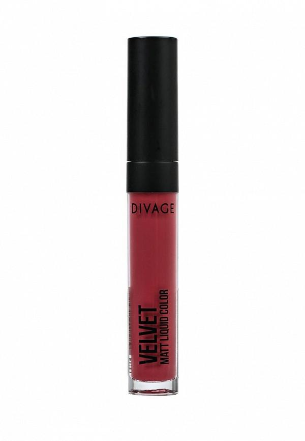 Помада Divage Жидкая Матовая Liquid Matte Lipstick Velvet № 02