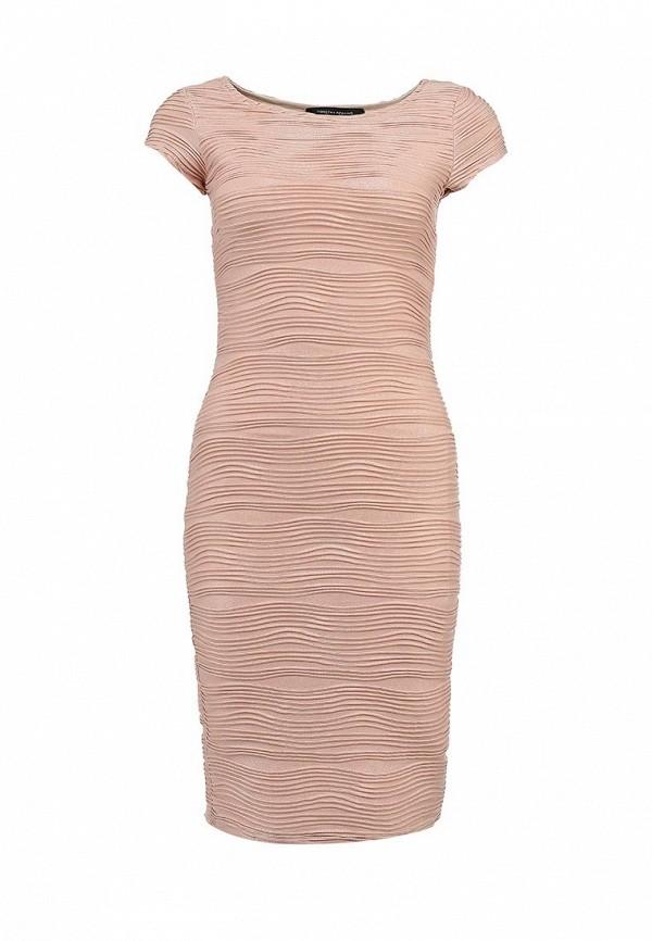 Платье коктейльное бежевое Dorothy Perkins