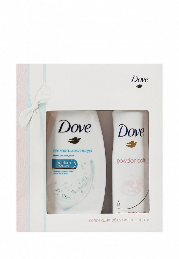Набор Dove крем-гель для душа Легкость кислорода 250 мл, дезодорант Нежность пудры 150 мл
