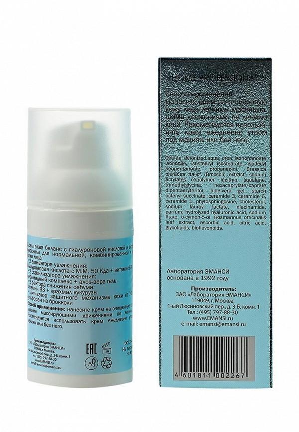 Крем для лица Emansi аква баланс с гиалуроновой кислотой и экстрактом брокколи для нормальной, комбинированной и жирной кожи, 30 мл