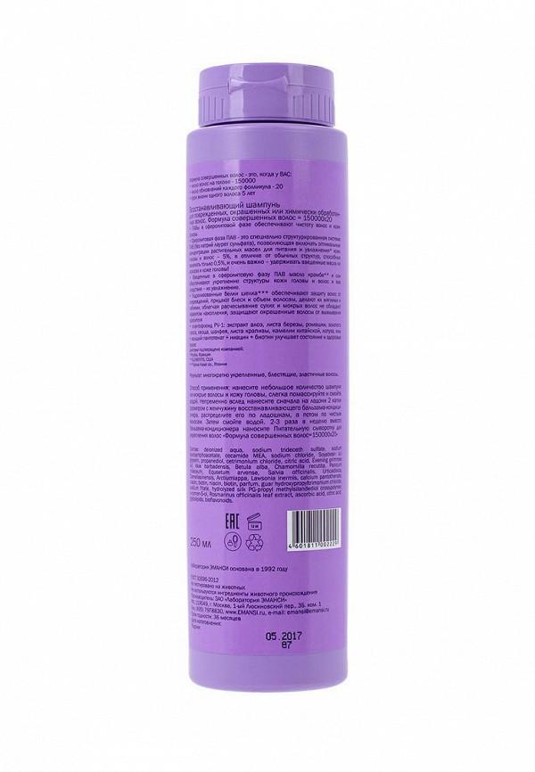 Шампунь Emansi Восстанавливающий для поврежденных, окрашенных или химически обработанных волос, Формула совершенных волос = 150000х20, 250 мл