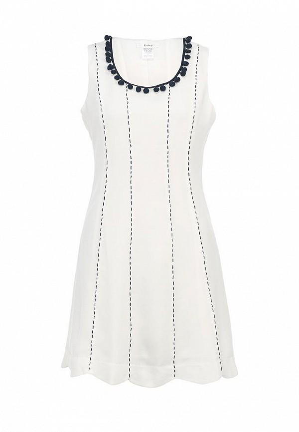 Платье коктейльное белое ESLEY