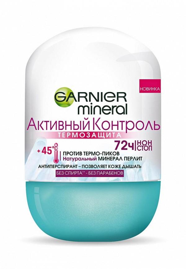 Дезодорант Garnier шариковый Mineral, Активный контроль, ТермоЗащита, без спирта, женский, 50 мл