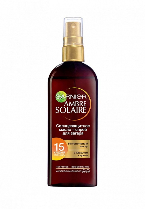Масло Garnier спрей Ambre Solaire, для интенсивного загара,SPF 15, 150 мл