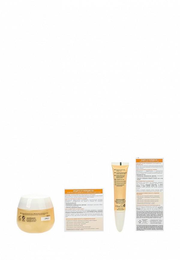 Набор Garnier Антивозрастной уход Защита от морщин 35+, Крем для лица дневной 50 мл, Крем для кожи вокруг глаз 15 мл