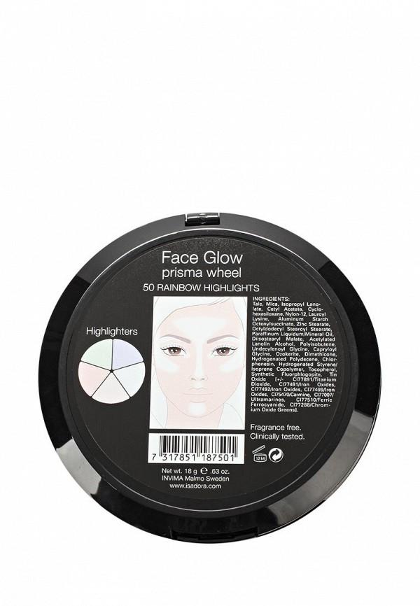 Палетка для лица Isadora хайлайтеров Face Glow 50, 18 гр