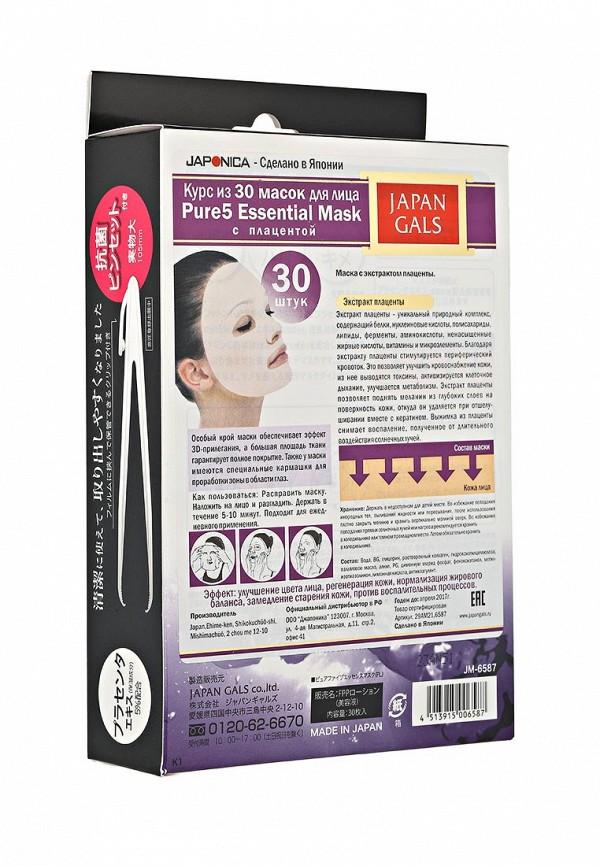 Комплект масок для лица Japan Gals Маска с плацентой Pure5 Essential 30 шт