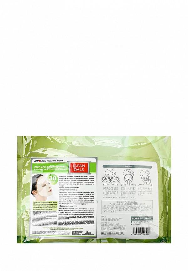 Набор Japan Gals натуральных масок для лица с экстрактом алоэ, 30 шт