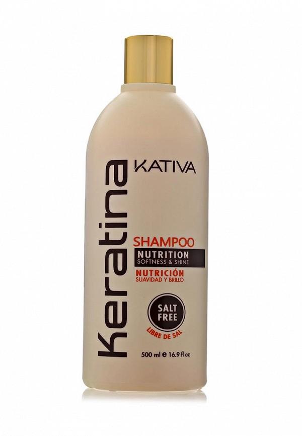Шампунь Kativa Кератиновый укрепляющий для всех типов волос 500 мл