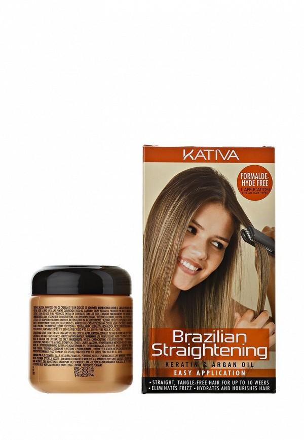 Кондиционер Kativa KERATINA выпрямление и восстановление волос с маслом Арганы