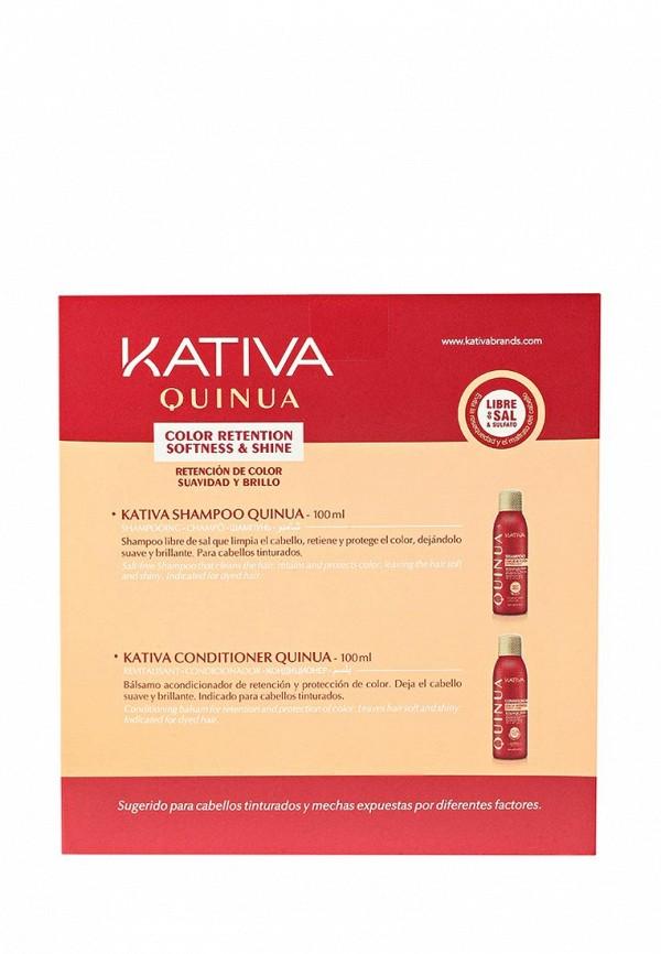 Набор Kativa QUINUA шампунь + кондиционер Защита цвета, 2 по 100 мл