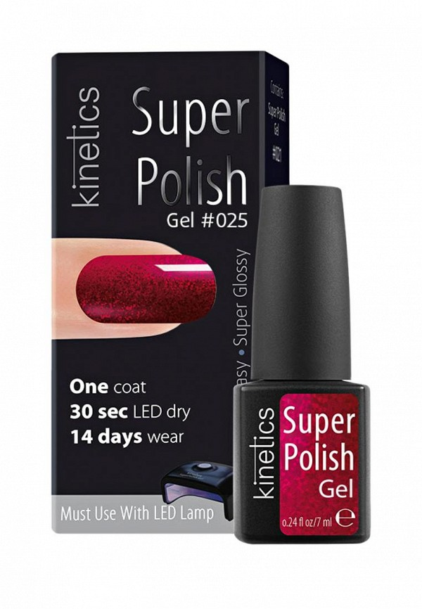 Гель-лак для ногтей Kinetics Однофазный Super Polish (025)