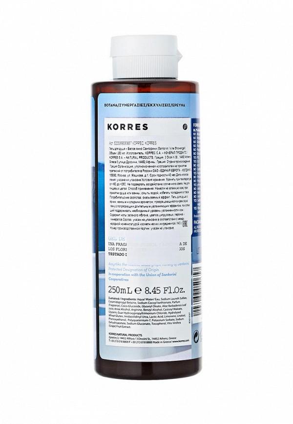Гель для душа Korres белое вино санторини 250 мл