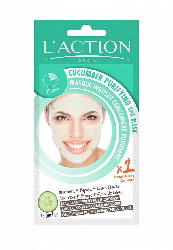 Маска для лица LAction SPA огуречная очищающая Cucumber Purifying SPA Mask, 20 г