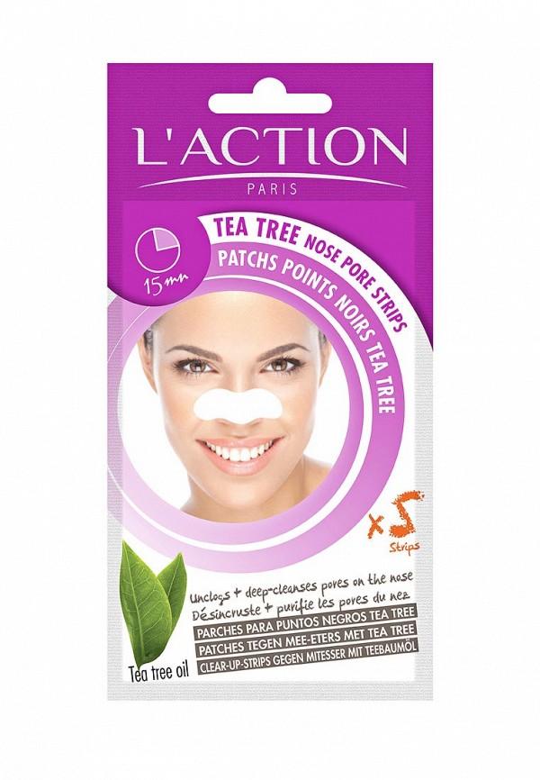 Патчи для носа LAction для очищения пор с экстрактом чайного дерева, 5 шт.