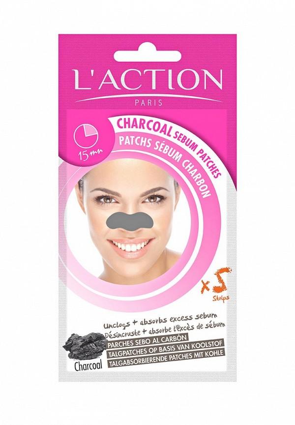Патчи для носа LAction для удаления жирного блеска с лица Charcoal Sebum Patch