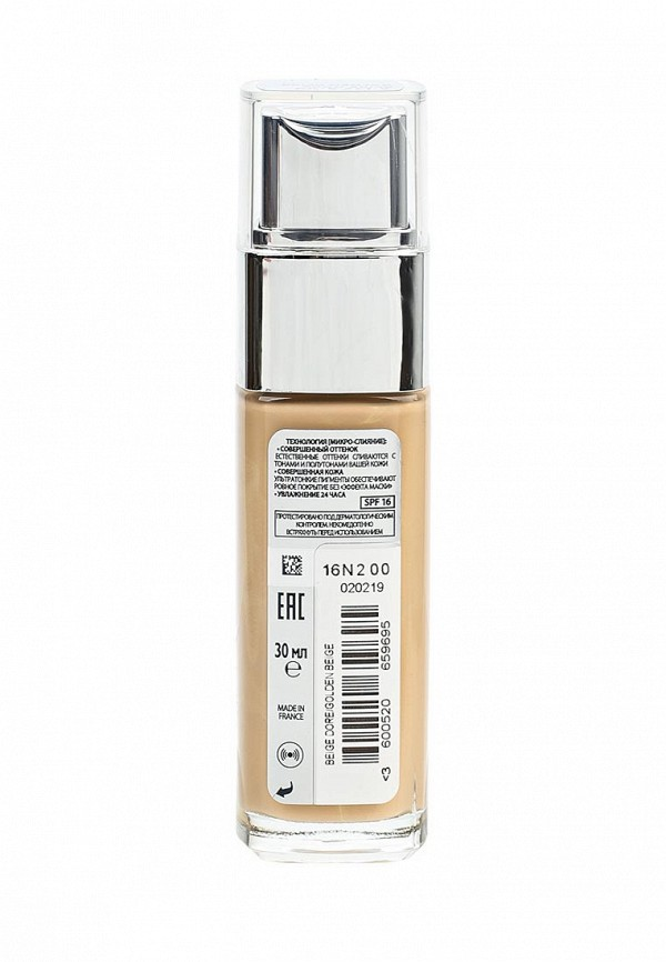 Крем тональный LOreal Paris Alliance Perfect Совершенное слияние оттенок D3 Светло-бежевый золотистый 30 мл