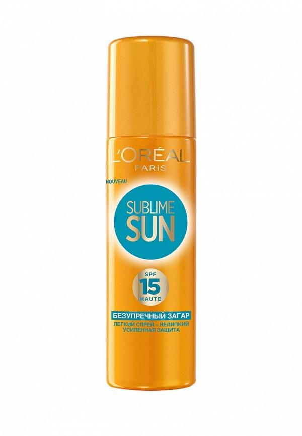 Спрей для тела LOreal Paris Sublime Sun Безупречный загар, солнцезащитное SPF15 200 мл