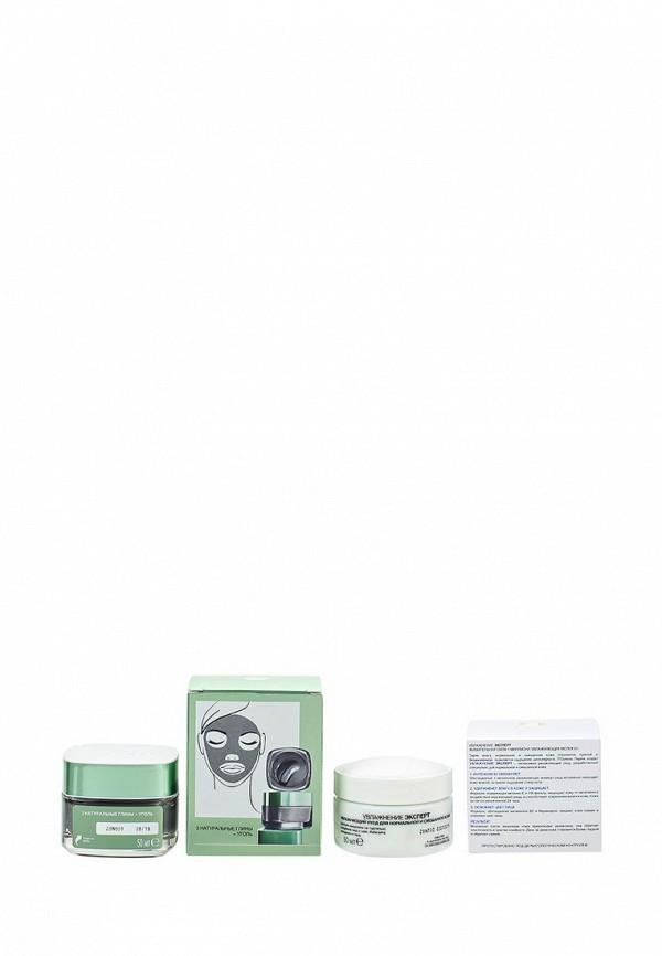 Набор LOreal Paris Магия Глины Детокс и сияние с углем для всех типов кожи, 50 мл, Крем для лица Увлажнение Эксперт для нормальной и смешанной кожи, 50 мл