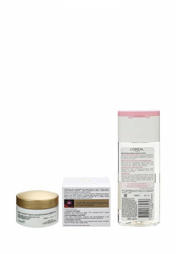 Набор LOreal Paris Дневной крем Возраст Эксперт 45+ для лица против морщин 50 мл, Мицеллярный лосьон для снятия макияжа, для сухой и чувствительной кожи, 200 мл