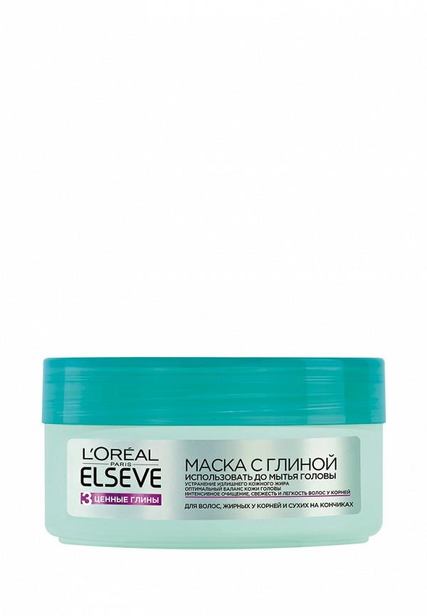 Маска для волос LOreal Paris Elseve 3 Ценные Глины с глиной , жирных у корней и сухих на кончиках, 200 мл
