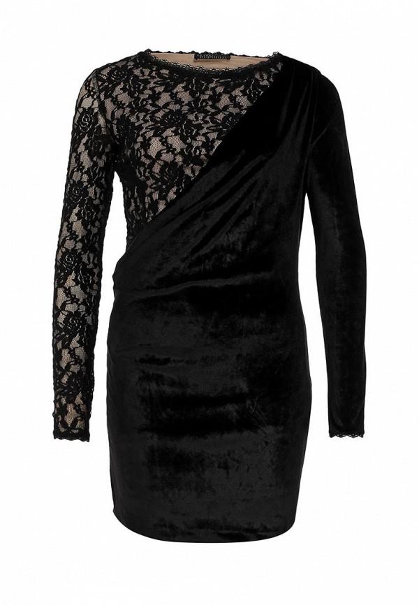 Черное бархатное платье Love Republic