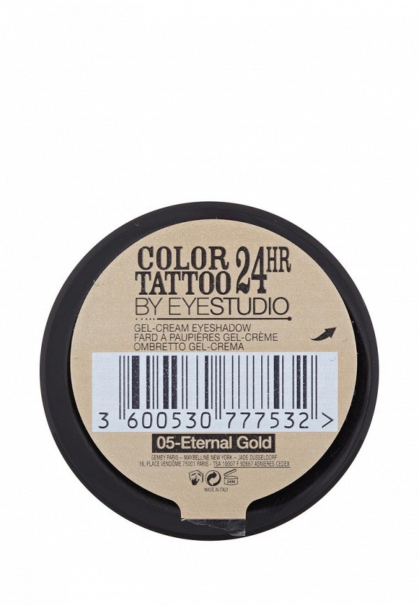 Тени Maybelline New York для век Color Tattoo 24 часа оттенок 05 Вечное золото 4 мл