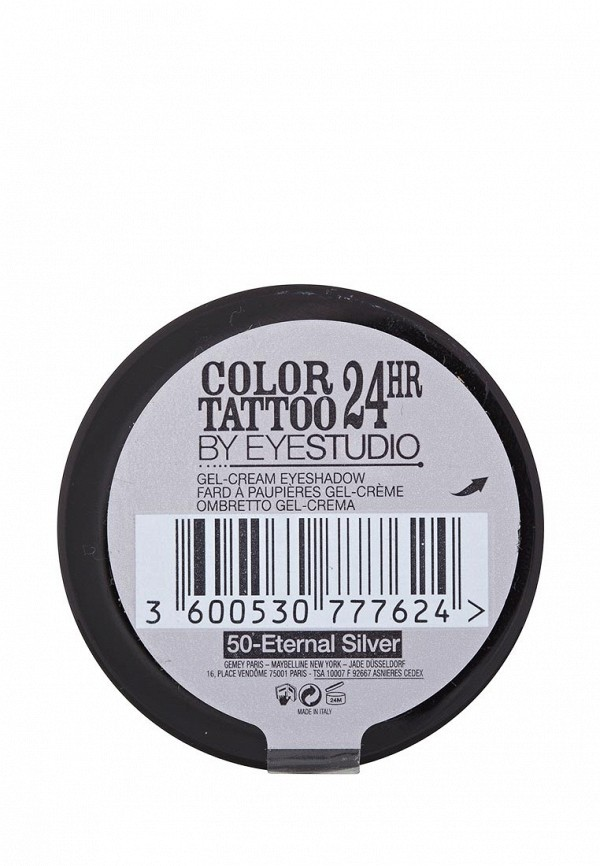 Тени для век Maybelline New York Color Tattoo 24 часа оттенок 50 Неизменное серебро 4 мл