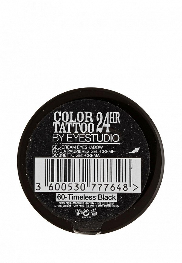 Тени для век Maybelline New York для век Color Tattoo 24 часа оттенок 60 Бессменный черный 4 мл