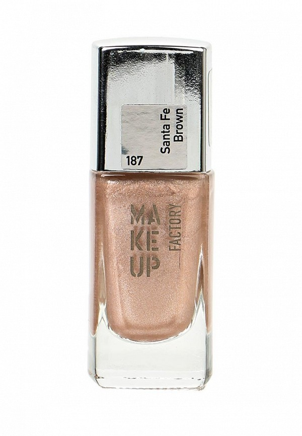 Лак Make Up Factory Nail Color т.187 коричневый сатин