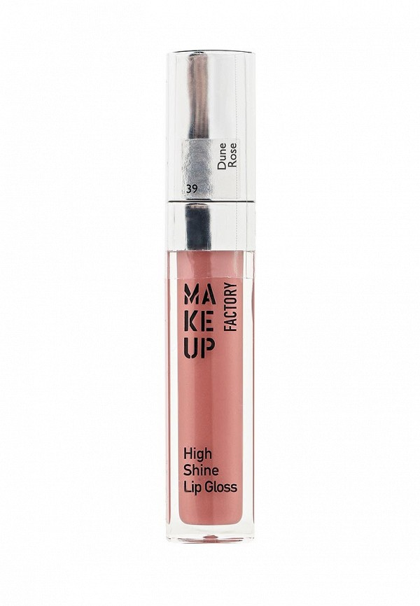 Блеск для губ Make Up Factory с эффектом влажных губ High Shine Lip Gloss тон 39 роза в дюнах