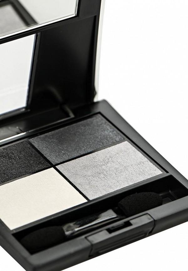 Тени Make Up Factory 4-х цветные для глаз Eye Colors тон 03 черный, серый, белый, серебрянный песок