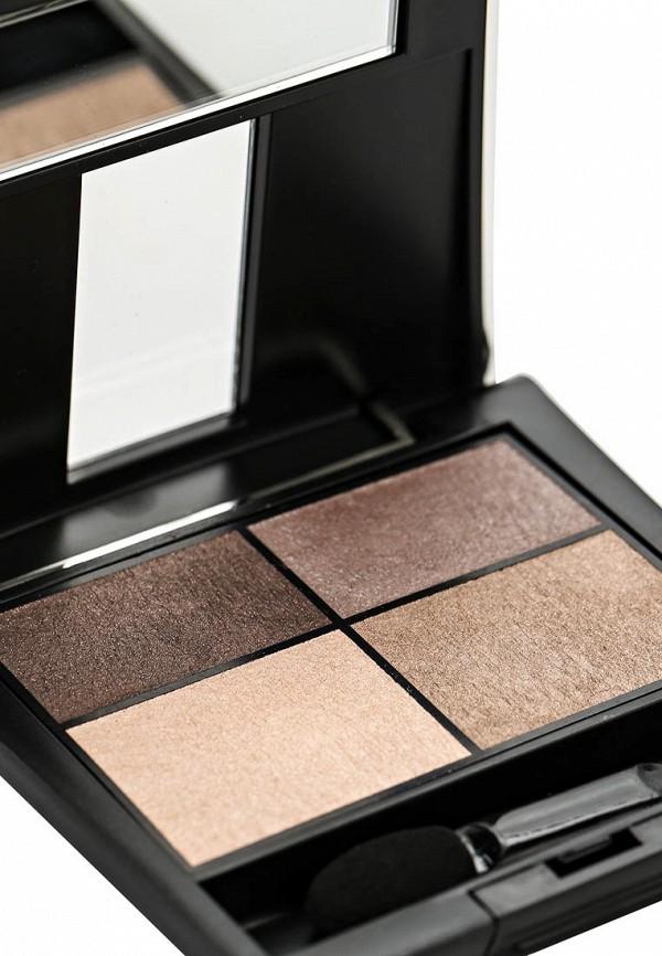 Тени для век Make Up Factory 4-х цветные Eye Colors тон 07 античная латунь, платина, серебро, бледное золото