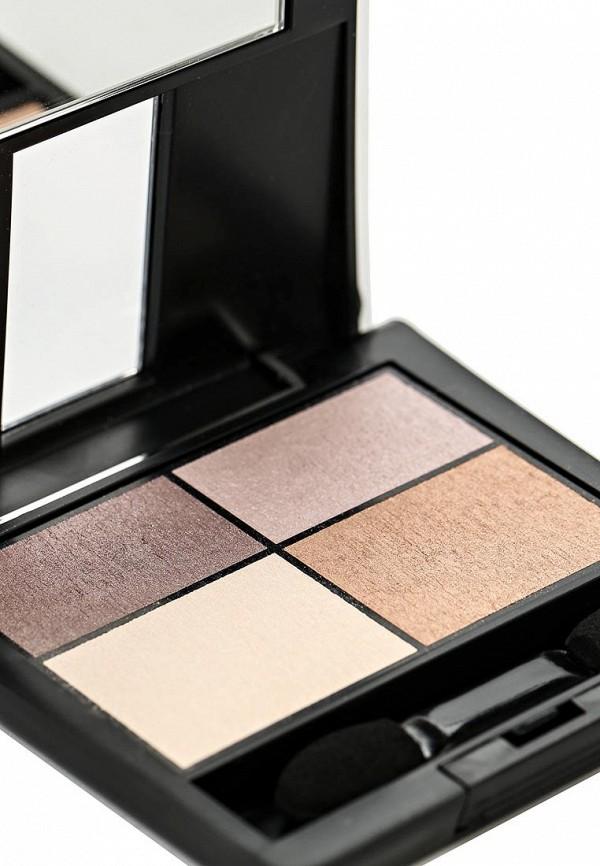 Тени для век Make Up Factory 4-х цветные Eye Colors тон 84 серый пурпур, серый, светло бежевый, молочный