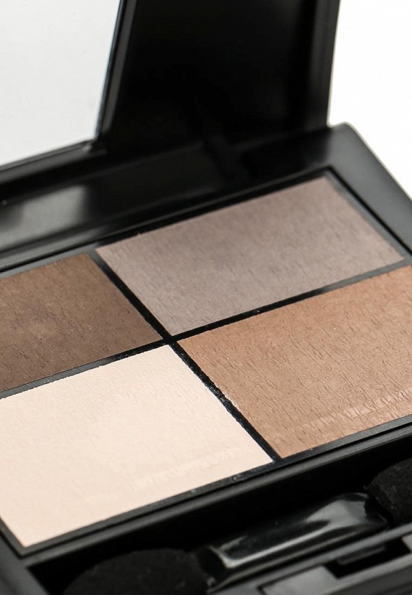 Тени для век Make Up Factory матовые 4-х цветные Mat Eye Colors тон 070 коричневый, св.коричн, св.беж, серый беж