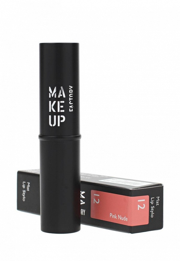 Помада для губ Make Up Factory Матовая Mat Lip Stylo т.12 Розовый нюд