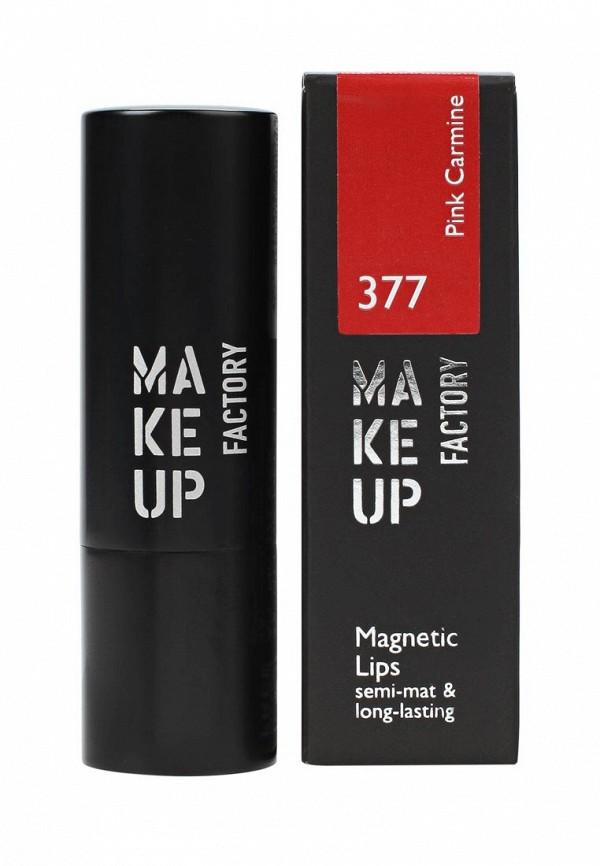 Помада Make Up Factory Устойчивая Magnetic Lips semi-matlong-lasting т.377 Розовый кармин