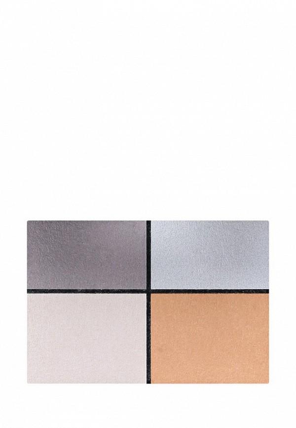 Тени для век Make Up Factory Матовые для глаз Mat Eye Colors т.580 т.серый, серый, светло бежевый, терракот