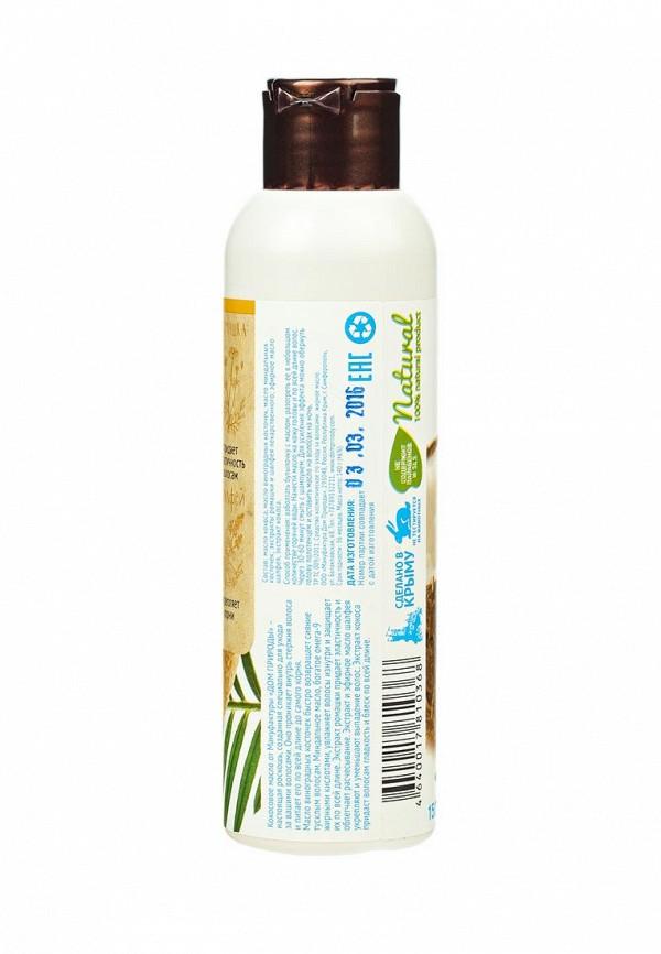 Масло для волос Мануфактура Дом Природы кокосовое Ромашка и шалфей, объем и блеск, 140 г