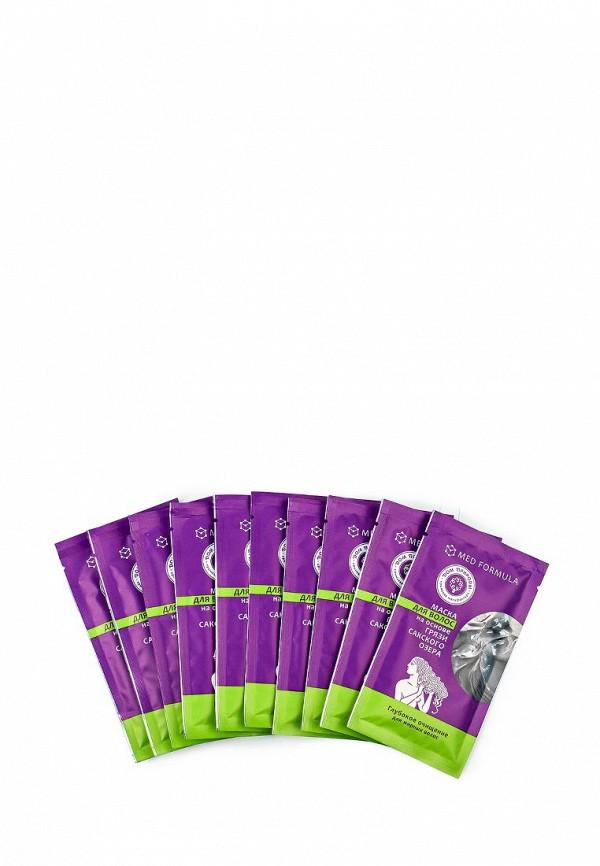 Набор масок 10 шт. Мануфактура Дом Природы для волос Глубокое очищение (для жирных волос) на основе Сакской грязи, 10 саше