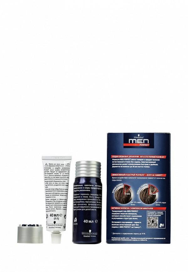 Краска для волос Men Perfect Тонирующий гель для мужчин Средне-каштановый 60, 80 мл