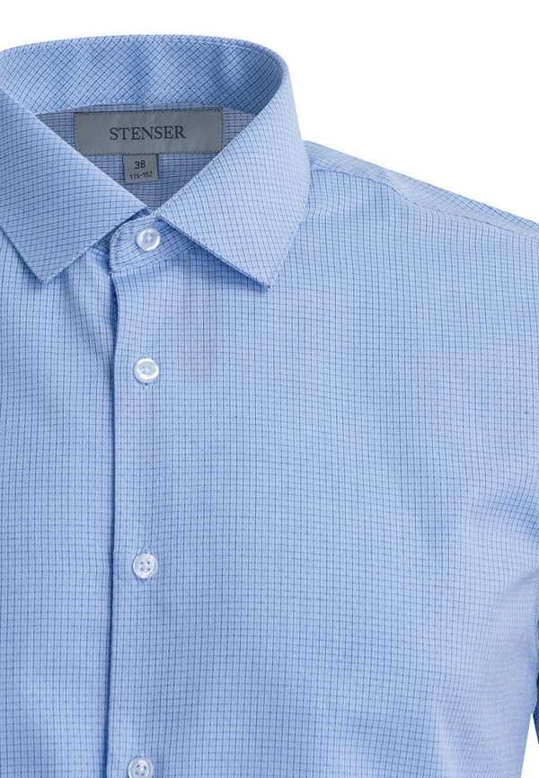 Рубашка для мальчика Stenser цвет голубой  Фото 3