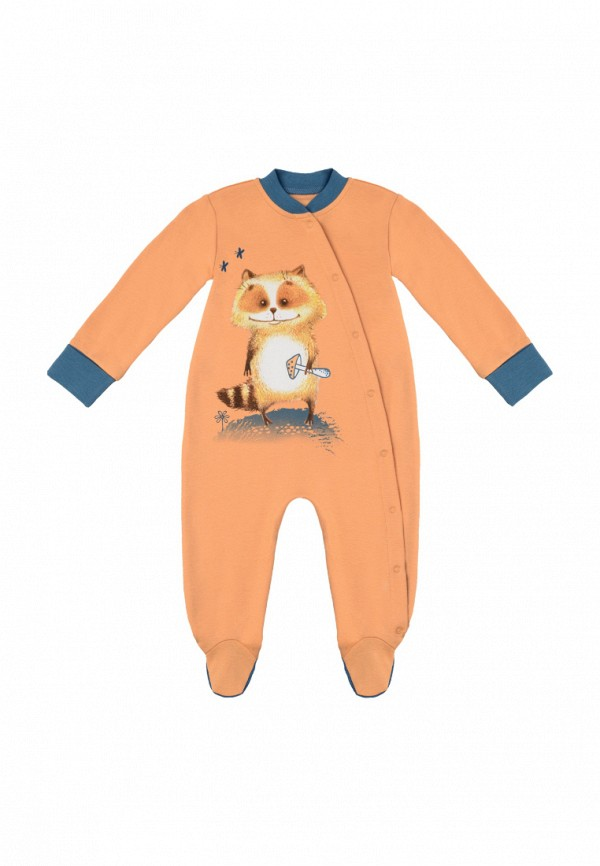 Детский комбинезон бельевой Kogankids цвет оранжевый