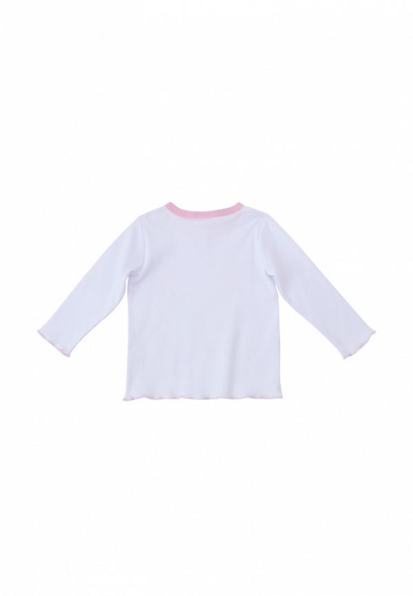 Лонгслив для девочки PlayToday цвет белый  Фото 2